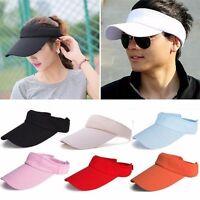 Unisex Men Women Sun Visor Cap Adjustable Sports Tennis Golf Headband Cotton Hat