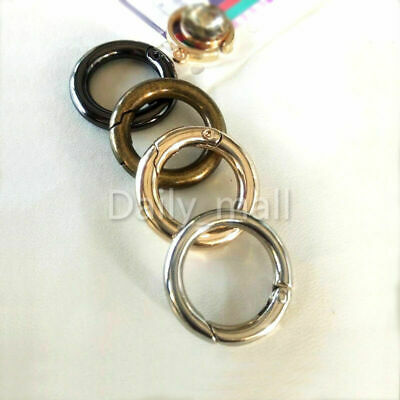 5 Pieces Gate O Spring Ring Round Snap Clip Trigger Buckle Gold 20mm Inner Dia