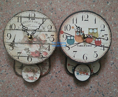 Creative Wooden Modelling Round Shape Mine Wall Clock Large Numbers Wall Clock