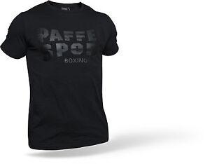 Paffen-Sport-Logo-T-Shirt-schwarz-Gr-S-XXL-Baumwolle-Slim-Fit-Boxen-MMA-MT