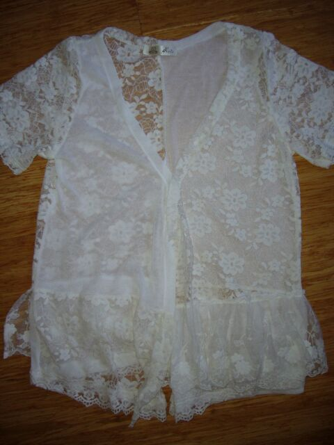 BRAND NEW WHITE LACE CARDIGAN