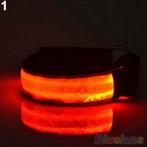 SPORT CYCLING RUNNING LED SAFETY REFLECTORS BELT STRAP ARM BAND ARMBAND GROOVY