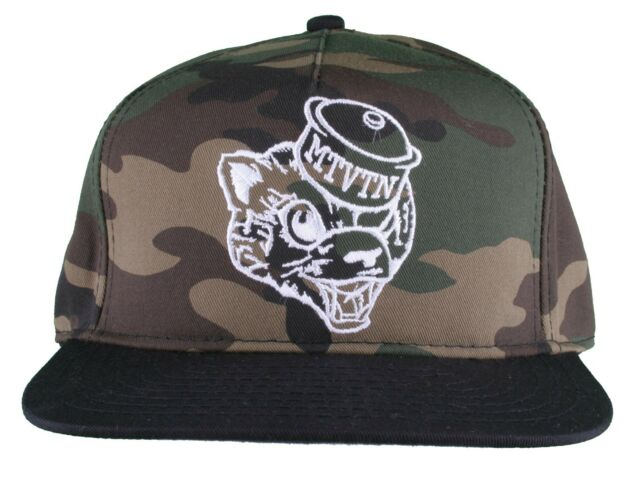 Motivation Mens Camo Outline Mascot Head Snapback Baseball Hat Cap ... e7bea77d74e