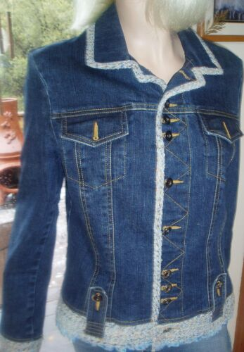Accent Blue Jacket Størrelse Twill Msrp 189 8 Lovely 10 Cache Jean 8wn8pxUqP
