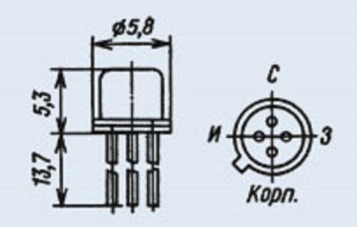CMPF5484 KP303V = 2N5484R TP5668 Transistor Silicon USSR  Lot of 4 pcs