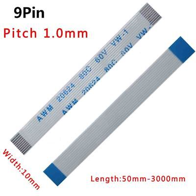 Pitch 1.0mm 9-Pin 9P FFC//FPC Flexible Flat Cable 50mm-3000mm Forward//Reverse