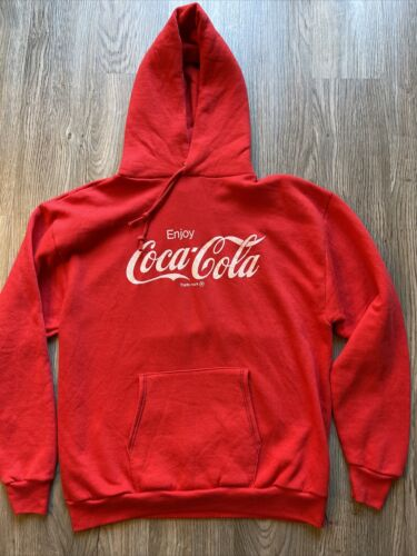 Vintage Coca Cola Hoodie by Russell 1980s! 🔥 Jerz
