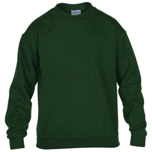 Gildan Heavy Blend Kids Boys Girls Crew Neck Sweatshirt