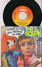 ANNIE CORDY 45 TOURS HOLLANDE LA BONNE DU CURE (DEDICACé ) (CLAUDE FRANCOIS)