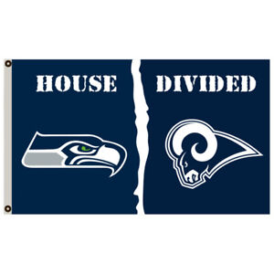 Seattle Seahawks Vs Los Angeles Rams House Divided Flag 3x5 Ft Nfl Sports Banner Ebay
