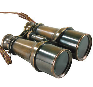 Victorian-Binoculars-6-25-034-Solid-Brass-Antiqued-Bronze-Finish-Nautical-Decor-New