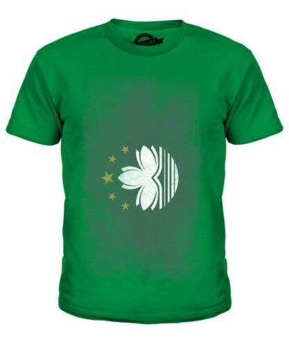 Avoir Un Esprit De Recherche Macao Décoloré Drapeau Enfants T-shirt Haut Macanais Football Chinois Cadeau Calcul Minutieux Et BudgéTisation Stricte