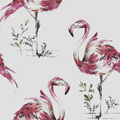 Fresco Great Value Flamingo Print Hot Pink Wallpaper 50-660