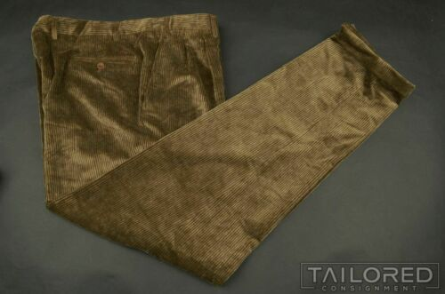 CANALI Sport Brown Corduroy 100% Cotton Mens Luxur