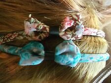 Pack 2 Floral hair alice band 1.7cm fabric bow headband hairband  flower bands