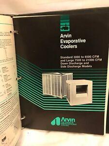 ARVIN EVAPORATIVE COOLER MANUAL  USED RARE | eBay