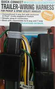 image is loading uhaul-trailer-hitch-wiring-harness-13389-1986-94-