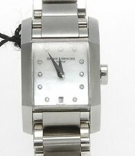 Authentic BAUME & MERCIER DIAMANT MOTHER OF PEARL Diamond Dial Quartz WATCH 8573