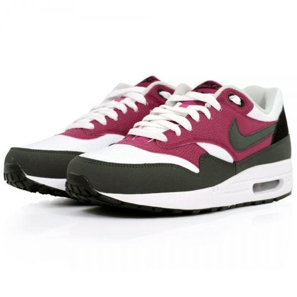 Nike Air Max 1 Essential Weiß lila Trainer 537383 105    | Erste Qualität
