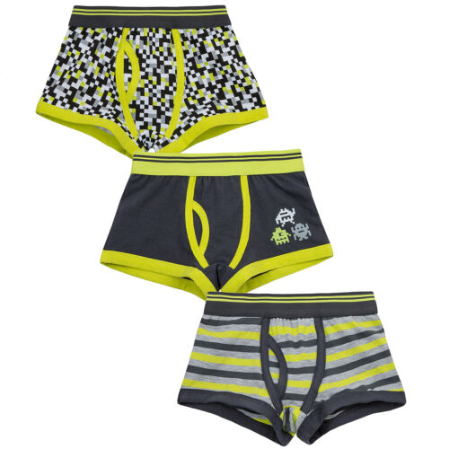 Boys Boxer Shorts 3 Pack Underwear Pants Childrens Kid Novelty 100/% Cotton Multi
