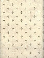 Small Golden Fleur De Lis Dotted on Faux Background Wallpaper NR3707