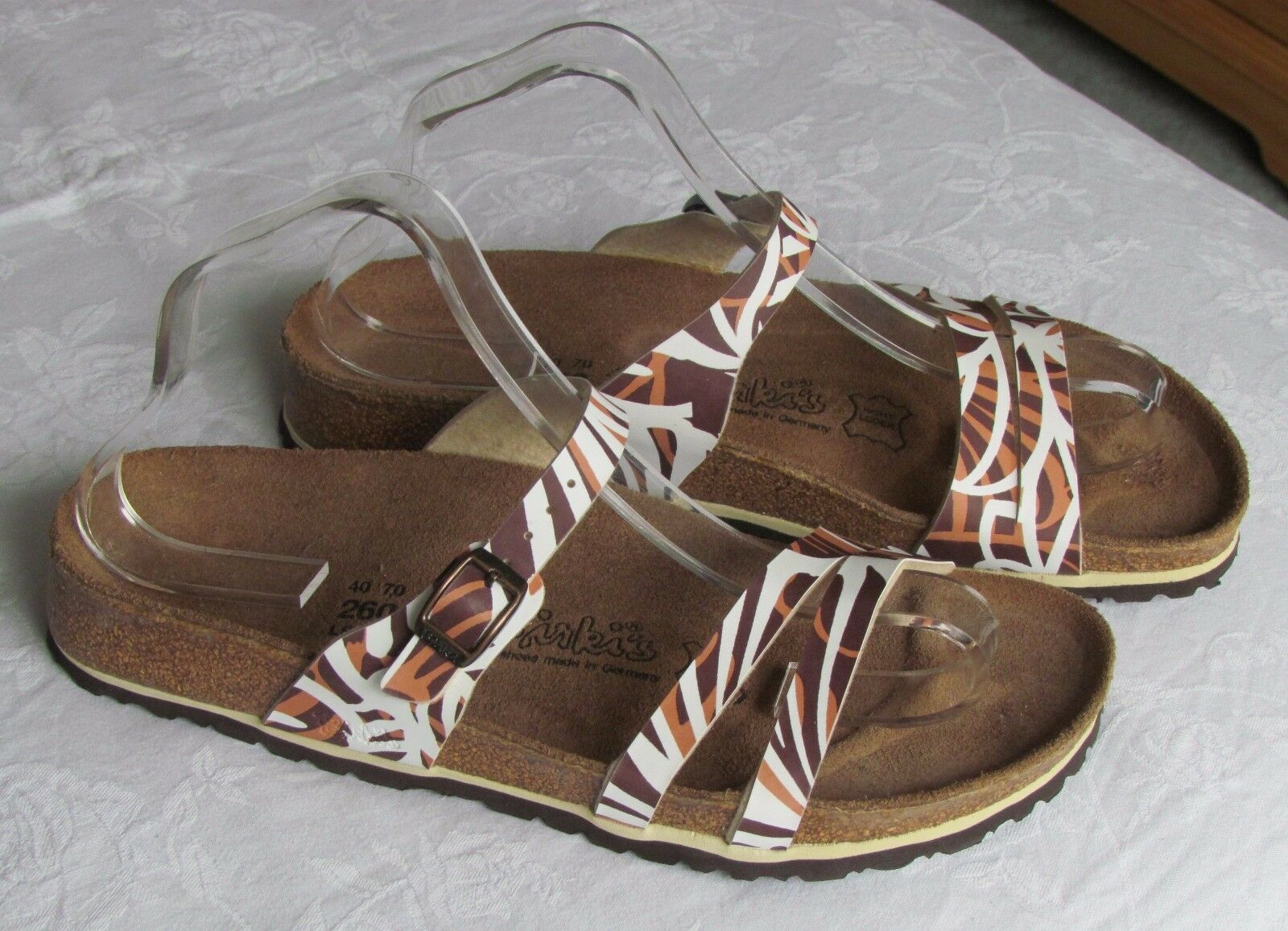 Nuevo Birkis by Birkenstock Damas Safari Marrón Tostado Mulas Sandalias UK Size 7
