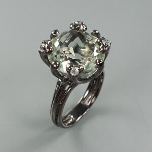 Natural-Green-Amethyst-925-Sterling-Silver-Ring-Size-7-RS18-0024
