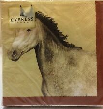 Cypress Home PONY PASTURE Cocktail Beverage Napkins 20 Count 3-Ply Decoupage