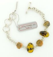 Biblical Widows Mite Coin Bracelet, Silver .925, 7- 8 Adjustable By J Michaels