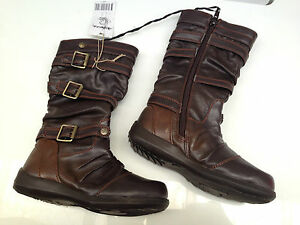 BNWT Little Girls Sz 6 Rivers Doghouse Brand Black Patent  Zip Side Boots RRP$50