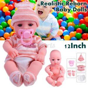 12-039-039-Handmade-Washable-Reborn-Baby-Doll-Girl-Soft-Vinyl-Real-Life-Newborn-Dolls