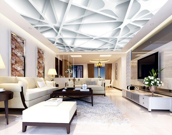 3D Interlaced Lines Ceiling WallPaper Murals Wall Print Decal Deco AJ WALLPAPER