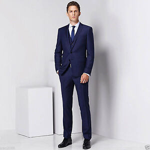 Men-Blue-Designer-Wedding-Grooms-Tuxedo-Dinner-Casual-Suit-Jacket-Vest-Pants