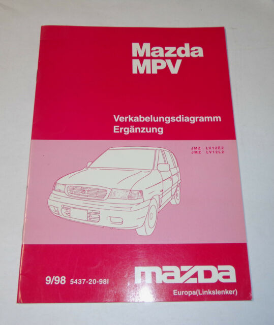 Workshop Manual Mazda Mpv Electricity Wiring Diagram