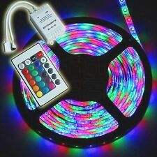 5M 3528 RGB LED Strip Lights Tape Rope + Remote Music Controller IR For Home CAR