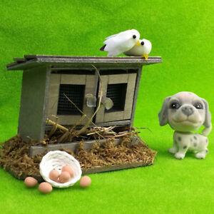 Miniature-chicken-coop-nest-Hen-house-fairy-garden-for-1-12-dollhouse-decoraOSL