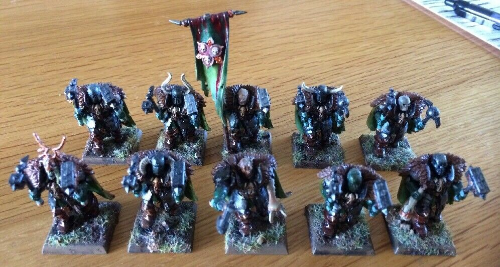 Warhammer Miniatures Slaves To Darkness Chaos Warriors PRO Paint Lot Of 10 RARE