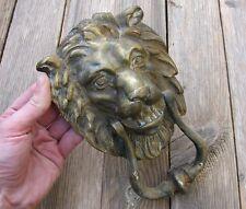 Old Large Solid Brass Lion door knocker