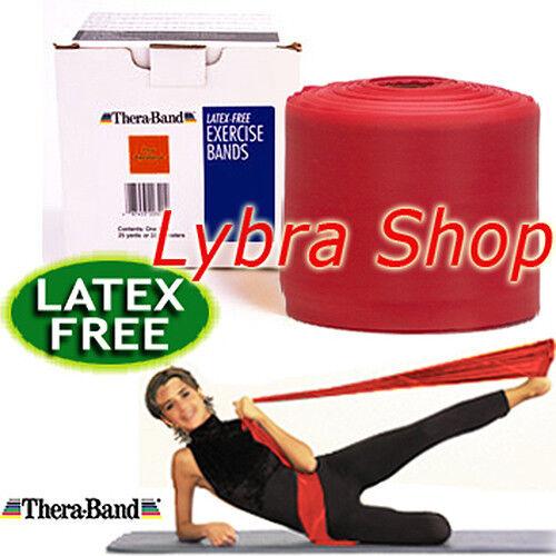 MEDIA Banda Pilates NO LATTICE Thera-Band FASCIA ELASTICA LATEX FREE 2,5m ROSSO