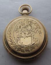 Antique Waltham 18s 14k/8k Solid Gold Pocket Watch15j BWCCo Wheat, 52mm, 119 gr