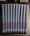NEW! 10x Golf Pride Z Grip Patriot Red White Blue 10pc Standard Set