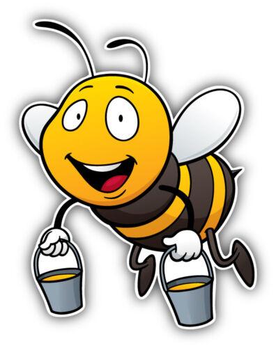 "Happy Bee Cartoon Car Bumper Sticker Decal  /""SIZES/'/'"