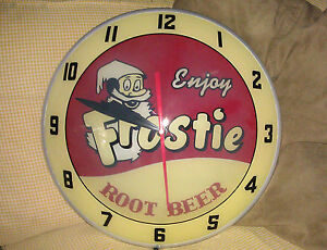 Frosty-Root-Beer-Double-Bubble-Clock-NIB