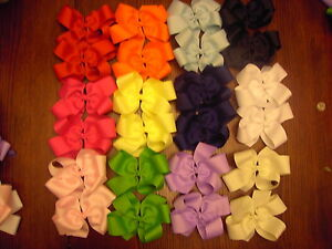LOT-OF-12-LARGE-BOUTIQUE-HAIRBOWS