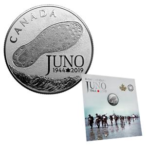 CANADA-1944-2019-D-DAY-AT-JUNO-BEACH-75TH-ANNIVERSARY-1-4oz-PURE-SILVER-COIN