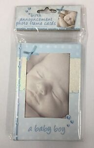 Birth Announcement Photo Frame Cards A Baby Boy Pack of 10 (NEW)