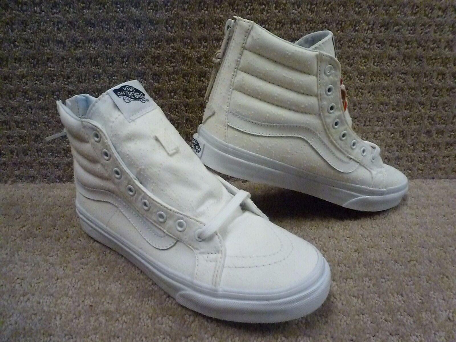 Vans Men's shoes  Sk8-hi Slim Zip  (Star Dots) True White Tr , Size 6.5