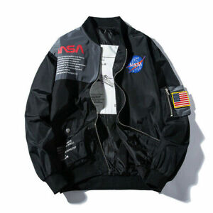 2019-Men-Flight-Jacket-MA-1-NASA-Style-Bomber-Coat-Pilot-Army-Jacket-outerwear