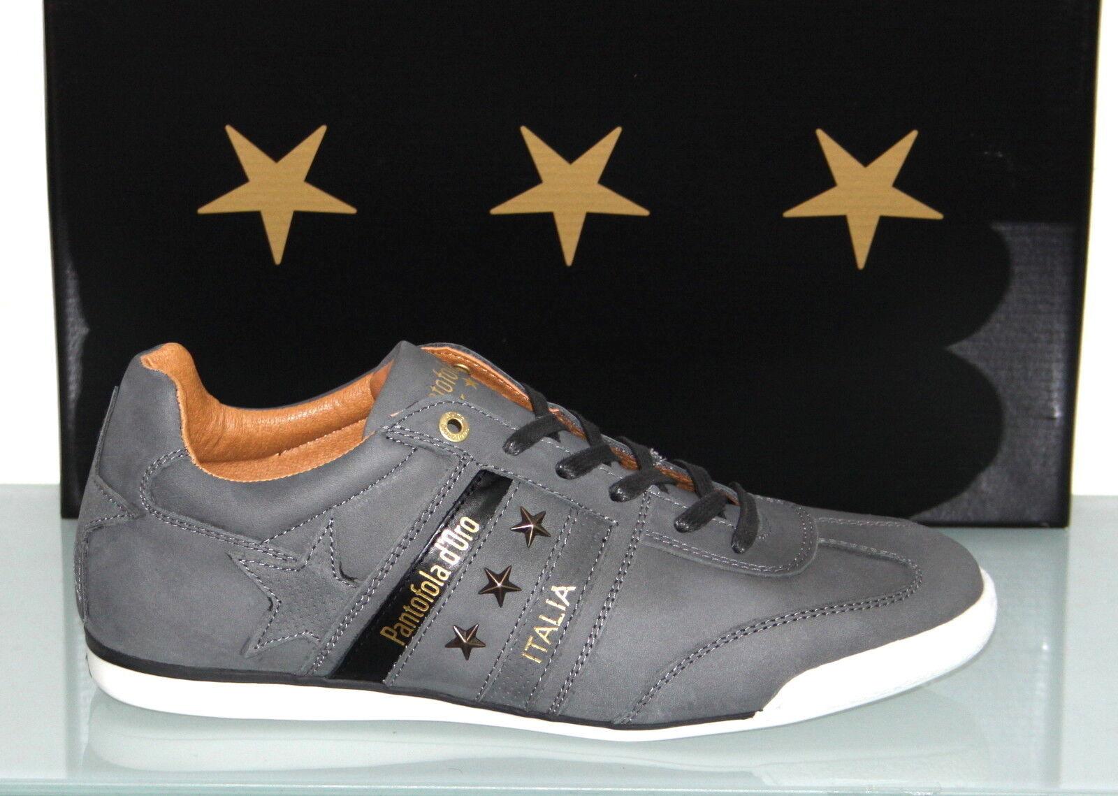 PANTOFOLA D´ORO Leder-Sneaker - IMOLA FUNKY Uomo Niedrig Dark Shadow - Neu&OVP