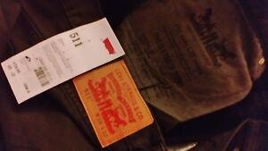Straight 32l Waist Slim Extra Levi's nuovo 38w Uomo 511 Black Under Sits ZTx4OHwq